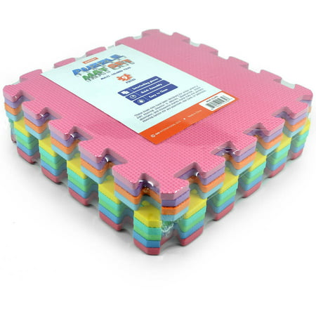 Matney Foam Floor Puzzle-Piece Play Mat, Great for Kids to Learn and Play, 9 Tile