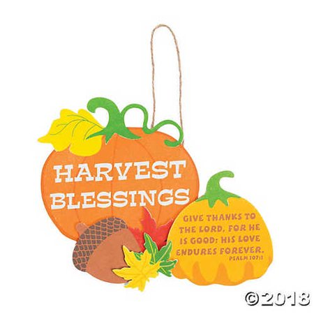 Harvest Blessings Sign Craft Kit (Kit Harvest)