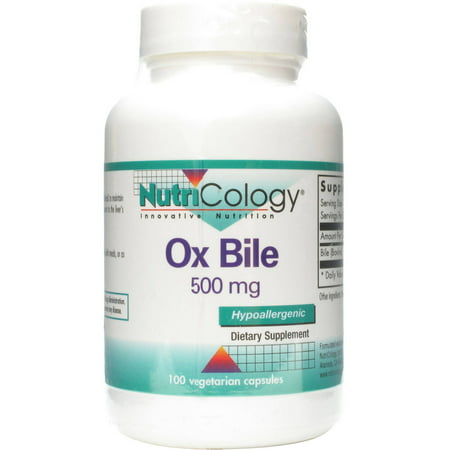Nutricology Ox Bile, 100 CT