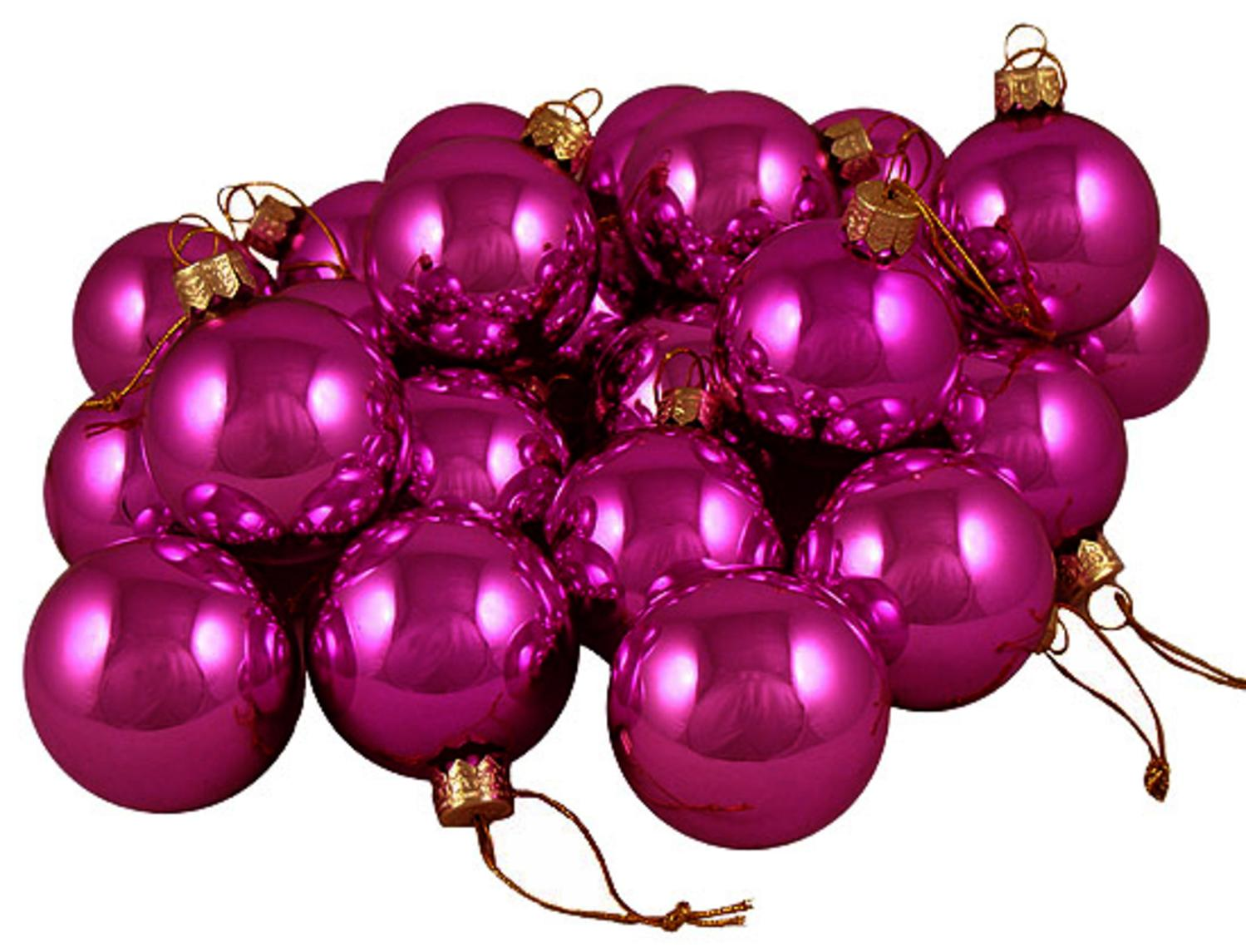 Club Pack Of 36 Shiny Fuschia Candy Glass Ball Christmas Ornaments 275