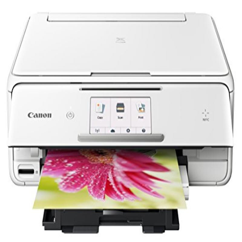 Canon TS8020 Wireless All-In-One Printer with Scanner and Copier, White