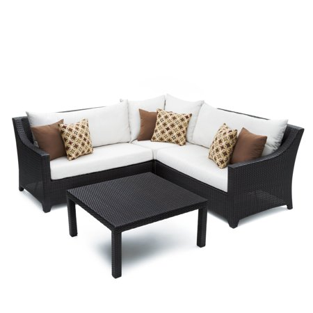 Rst Brands Deco 4 Piece Corner Sectional Sofa And Coffee Table Set