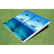 Ship Shark Themed Cornhole Boards