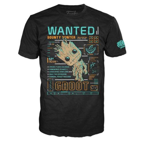 Marvel Guardians of the Galaxy Funko POP Tees Groot Line Up Small