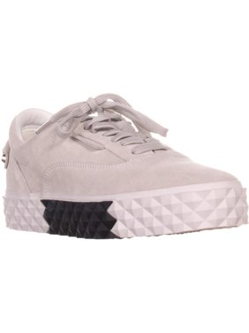 Womens KENDALL + KYLIE Reign Platform Sneakers, White Suede, 8.5 US