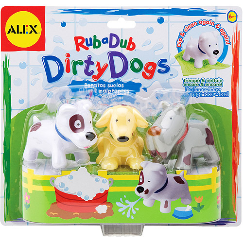 Alex - Rub a Dub Dirty Dogs Bath Toys