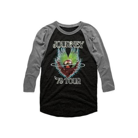 Journey 1979 Vintage Black Premium Heather Adult 3/4 Sleeve Raglan T-Shirt Tee