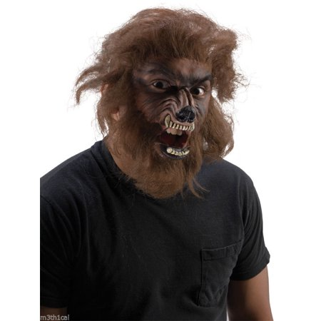 Werewolf Wolfman Face Makeup Hair Kit Appliance Latex Face Wolf Prosthetic (Halloween Make Up Latex)