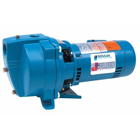 Goulds / Xylem J10S 1 HP Shallow Well Jet Pump, 115/230 V Capacitor Start Hydraulic Jet Pump