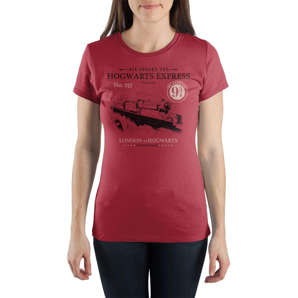 Harry Potter Platform 9 3//4 Kings Cross Hogwarts Express Burgundy Mens T-shirt