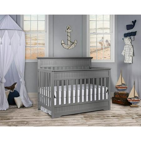 Dream On Me Chesapeake 5 In 1 Convertible Crib Storm Grey