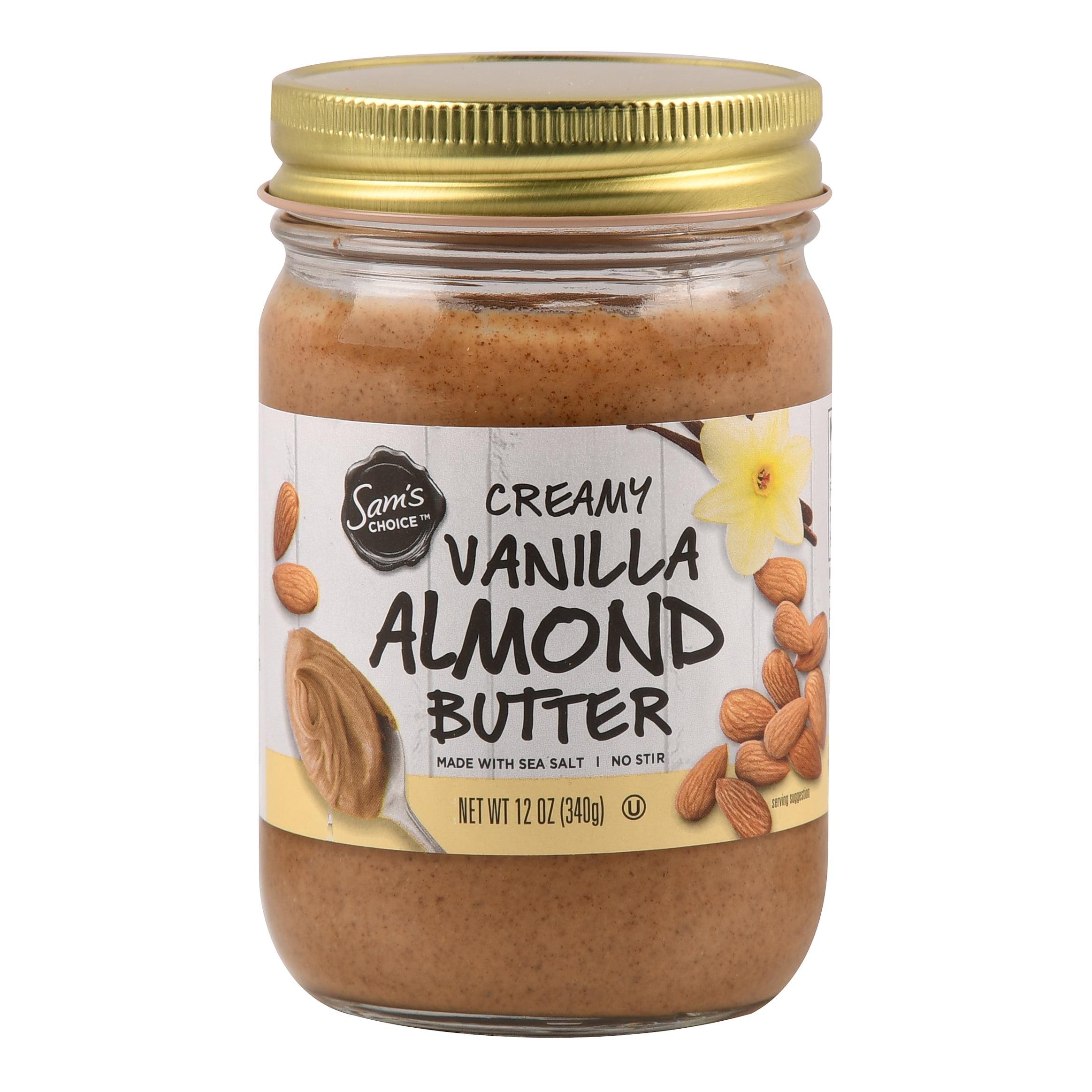 Sam's Choice Creamy Almond Butter, Vanilla, 12 oz