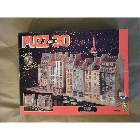 Puzz 3D: Paris 1859: Quai de Megisserie by Wrebbit Wrebbit Puzz 3D*Width 28-1/2 , Depth: 9 , Height 11-1/2 *774 PiecesSKU:ADIB002ZJU054