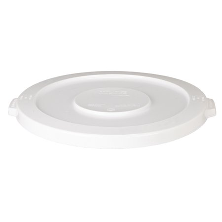 Continental 4445WH 44-Gallon Huskee LLDPE Waste Lid, Round, White Continental Round Huskee Container