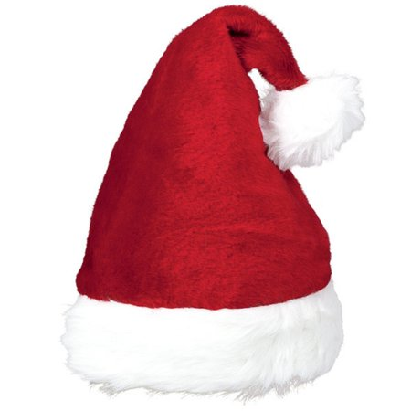 """Plush Santa Claus Hat 15"""" x 11"""""""