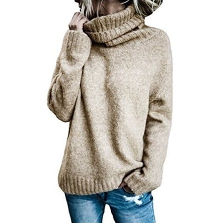 Autumn Winter Fashion Knitted Sweater Turtle Neck Long Sleeve Pulover Sweater Acrylic Colored Sweater