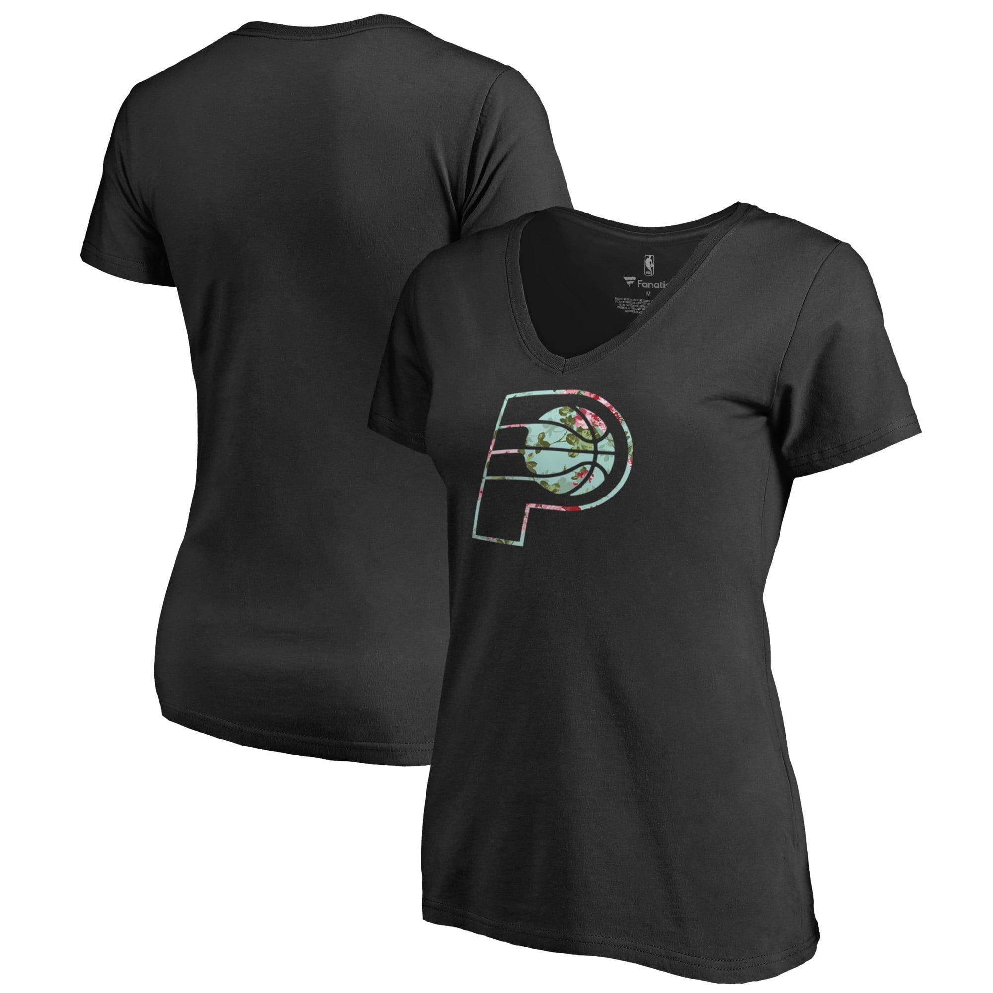 Indiana Pacers Fanatics Branded Lovely V-Neck T-Shirt - Black