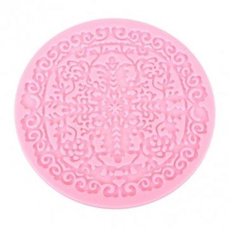Cross Snowflake Fondant Cake Silicone Lace Mold Circular