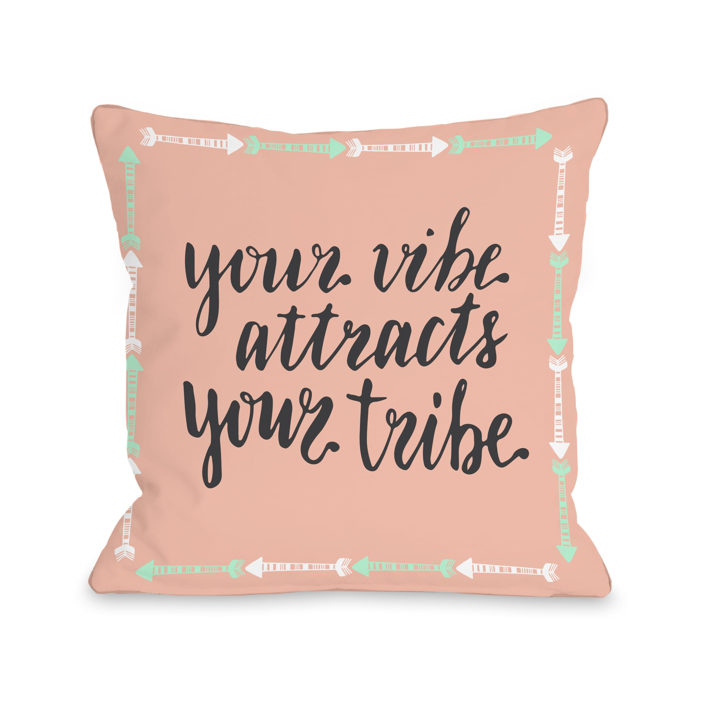 Vibe Tribe - Coral 18x18 Pillow by OBC