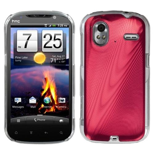 Insten Red Cosmo Back Case for HTC: Amaze 4G