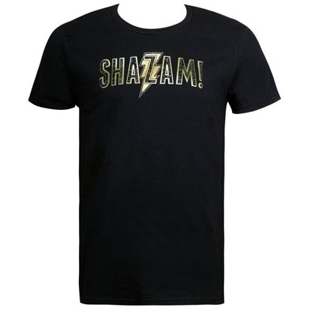 Shazam 111295L Shazam Movie Text Logo Mens T-Shirt - Large - image 1 of 1