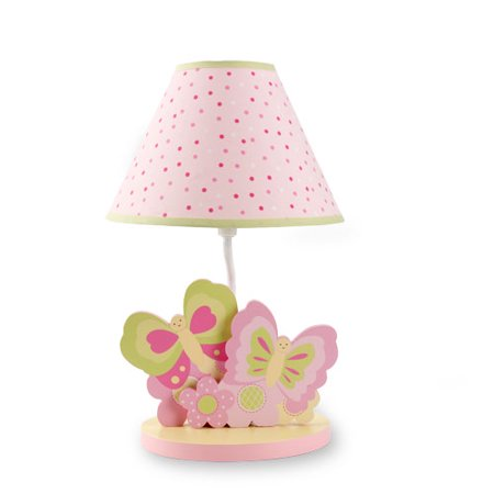 butterfly garden lamp w shade. Black Bedroom Furniture Sets. Home Design Ideas