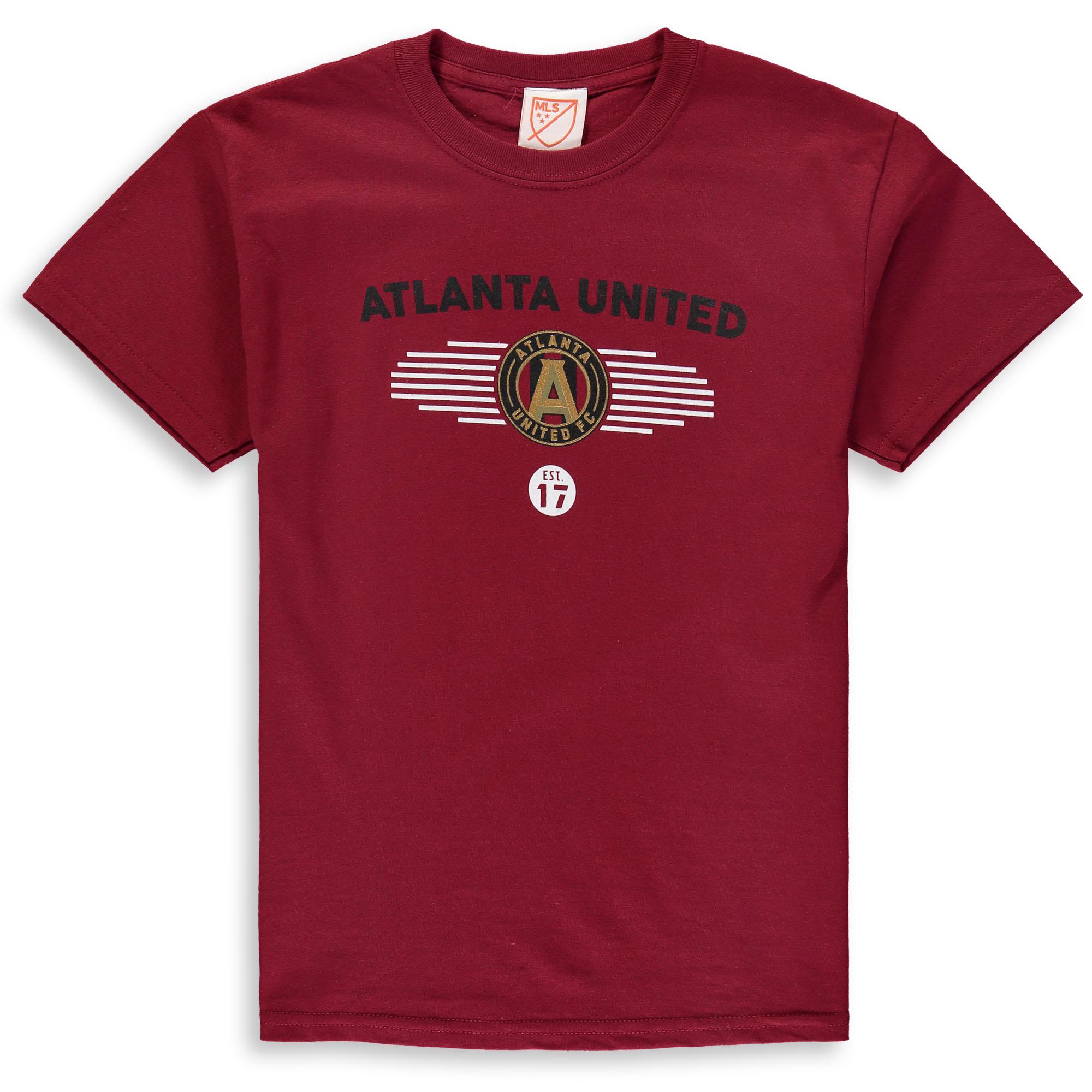 Youth Majestic Garnet Atlanta United FC Stunning Performance T-Shirt