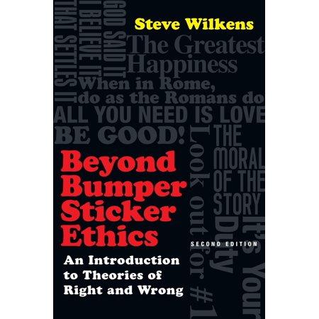 Books Sticker Bumper (Beyond Bumper Sticker Ethics - eBook )
