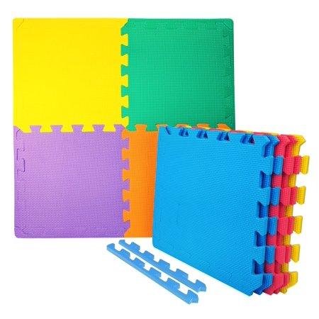 Wacces 12 X 12 Inch Multi Purpose Puzzle Eva Floor Interlocking Foam Exercise Mat