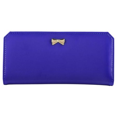 red and black handbags - Zodaca Navy Blue Women Fashion PU Leather Wallet Button Bowknot ...