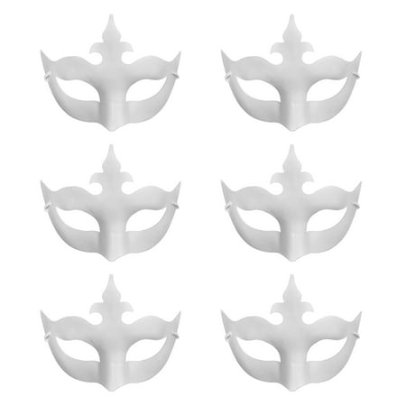 Aspire 6 PCS Blank DIY Masks Craft Paper Halloween Masquerade Face Mask Decorating Party - Halloween Storytime Crafts
