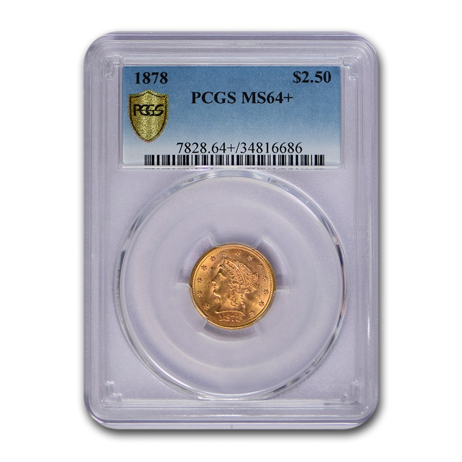 1878 $2.50 Liberty Gold Quarter Eagle MS-64+ PCGS