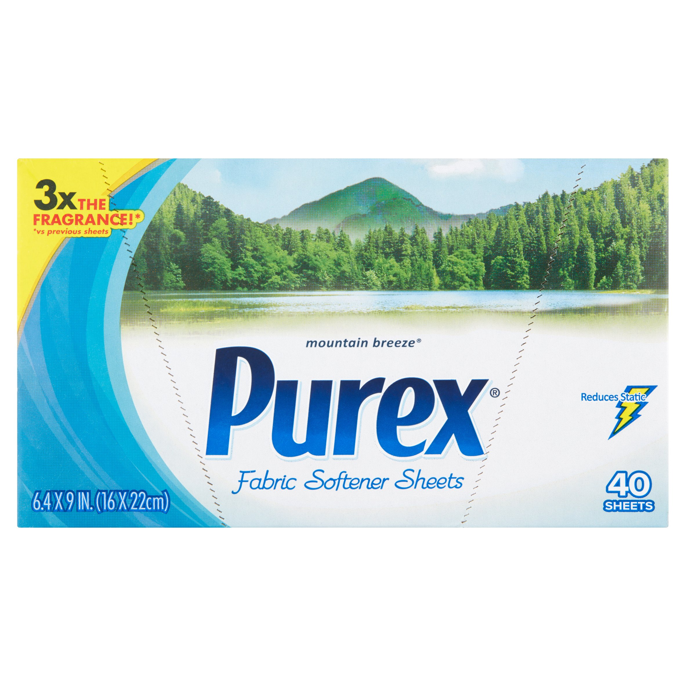 Purex Dryer Sheets, Mountain Breeze, 40 Sheets