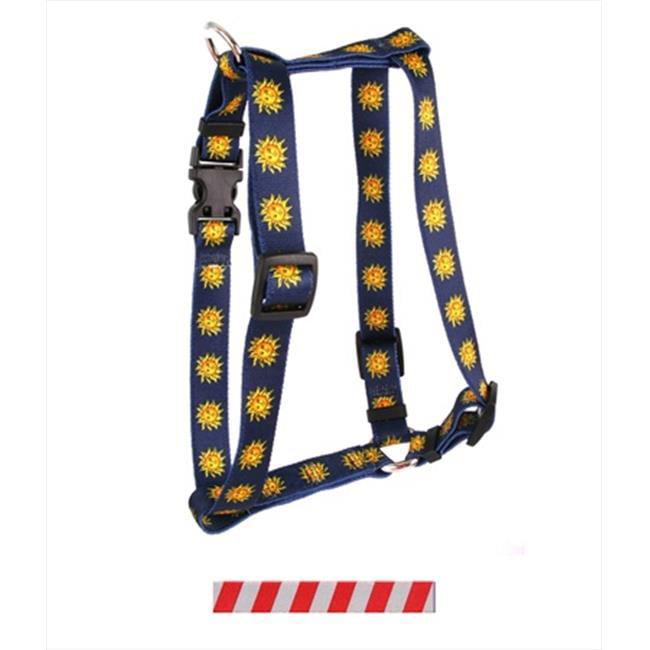 Yellow Dog Design H-TSSG103L Team Spirit Scarlet and Gray Roman Harness - Large