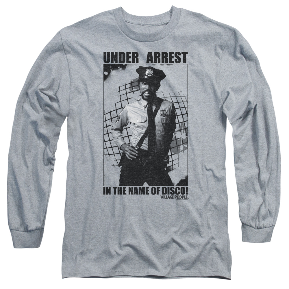 The Village People Under Arrest Mens Long Sleeve Shirt