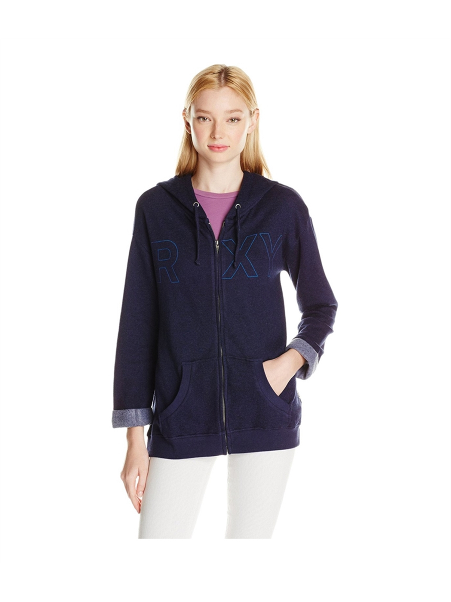 buy online hot-selling real clients first Roxy Womens Spell It Out A Hoodie Sweatshirt peacoat S ...