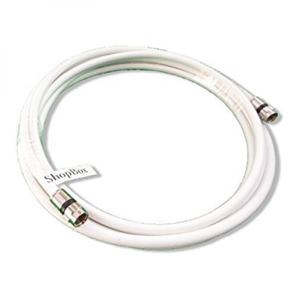 Digital Satellite TV White RG-6 Coaxial 75-Ohms Cable for Indoor//Outdoor CATV