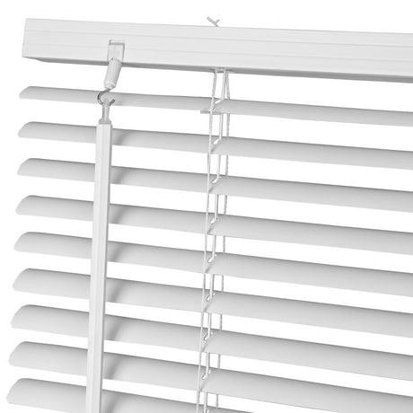 60 w x 64 h window blinds 1 slat pvc vinyl venetian. Black Bedroom Furniture Sets. Home Design Ideas