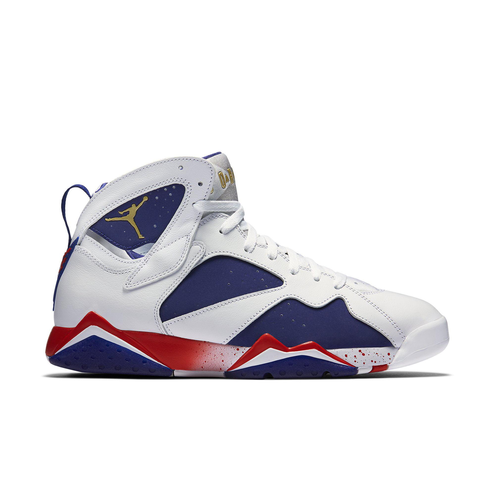 7e784dc644ccc7 ... authentic air jordan 7 retro olympic tinker alternate mens shoes white  deep royal blue fire red
