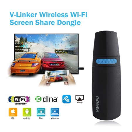Newly Released GGMM V-Linker 5G HDMI Streaming Media Player, Wireless Wi-Fi Display Dongle, Share Video, Image, Docs, Live Music…from All Smart Devices to TV or Projector. Perfect Presentation Tool