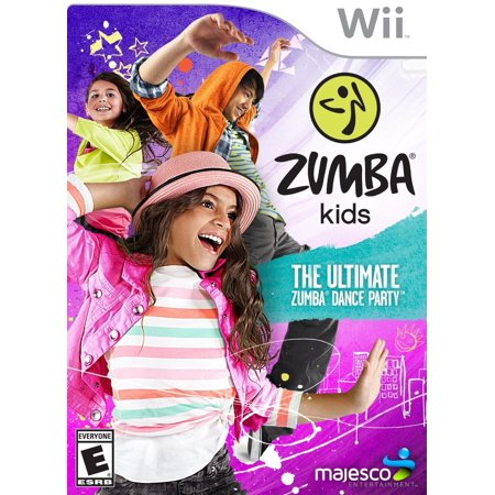 Zumba Kids - Wii, The first video game based on the Zumba dance-fitness program designed specifically for kids aged 7-12 years old By Majesco from (Best Games Console For 7 Year Old 2015)