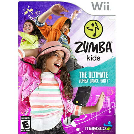 Zumba Kids - Wii, The first video game based on the Zumba dance-fitness program designed specifically for kids aged 7-12 years old By Majesco from (Best Wii Games For 7 Year Old Boy)