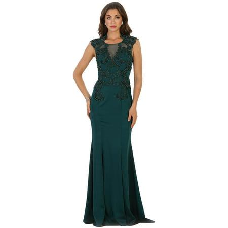 BEAUTIFUL BACK INTEREST PROM EVENING GOWN & PLUS SIZE (Beautiful Tween Dresses)