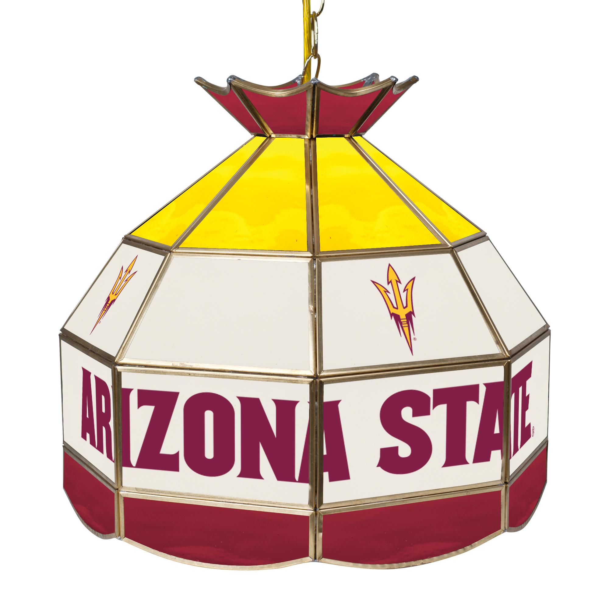 "NCAA Arizona State University 16"" Stained Glass Tiffany Lamp Light Fixture"