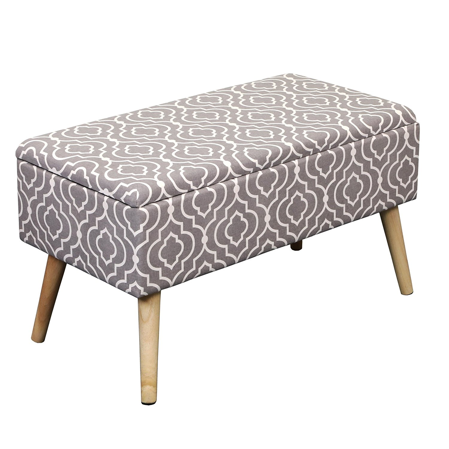 Otto & Ben 30 Inch Easy Lift Top Upholstered Ottoman Storage Bench, Multiple Colors