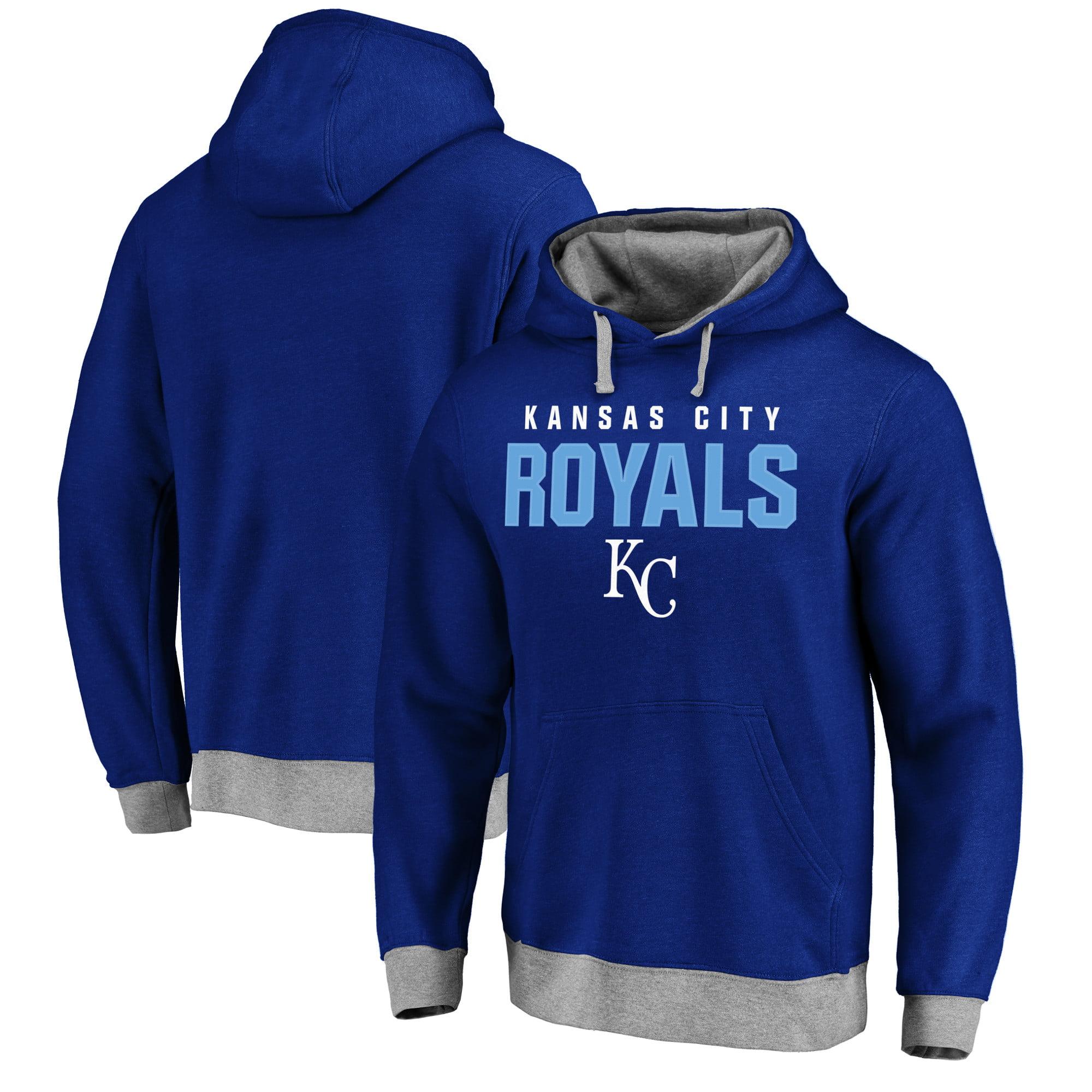 Kansas City Royals Elevation Tri-Blend Pullover Fleece Hoodie - Royal