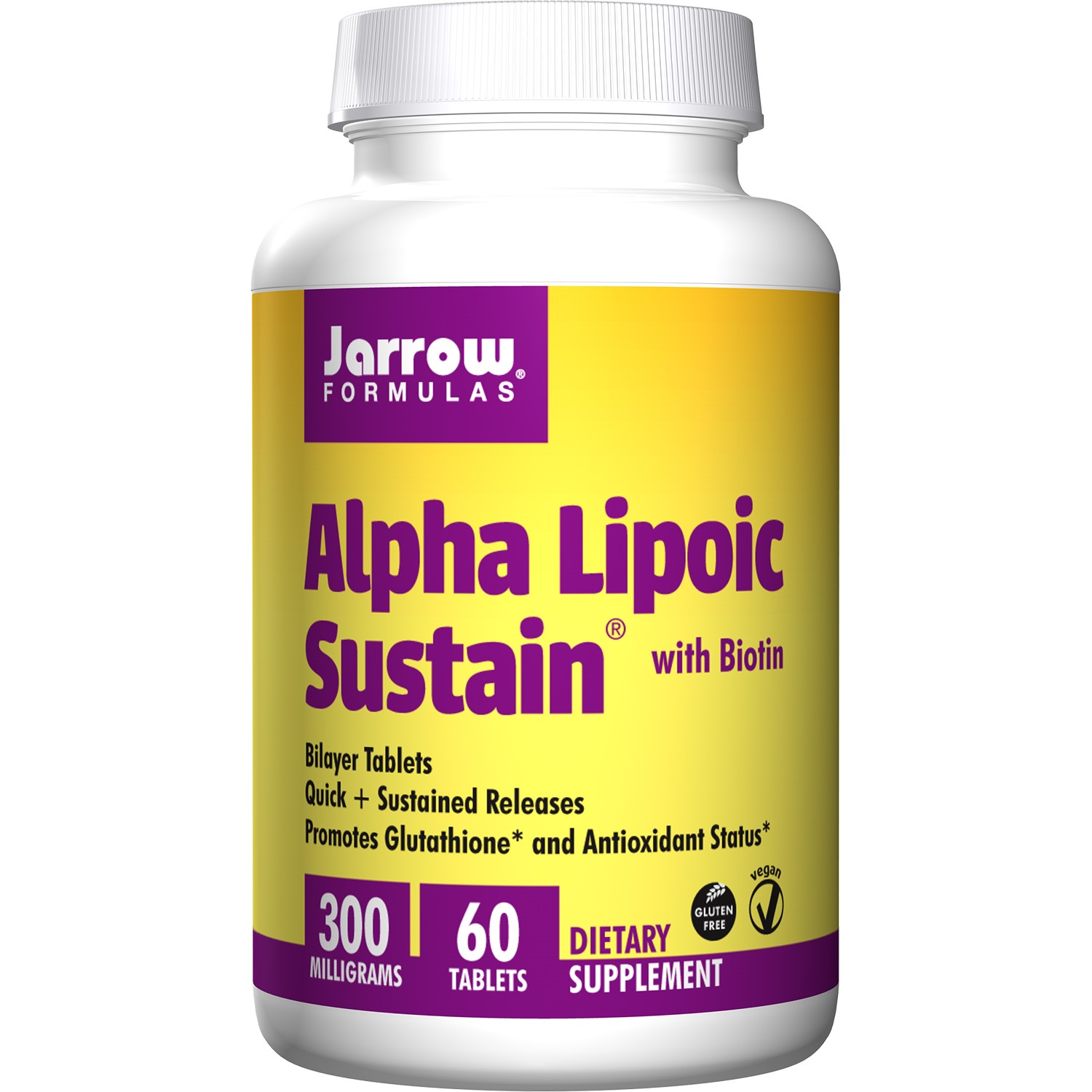 Jarrow Formulas Alpha Lipoic Sustain 300 with Biotin, Tablet