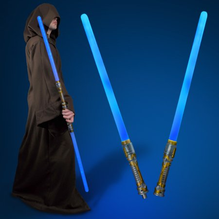 FlashingBlinkyLights Double-sided LED Light Up Sword Saber with Blue LED & Sound Effects