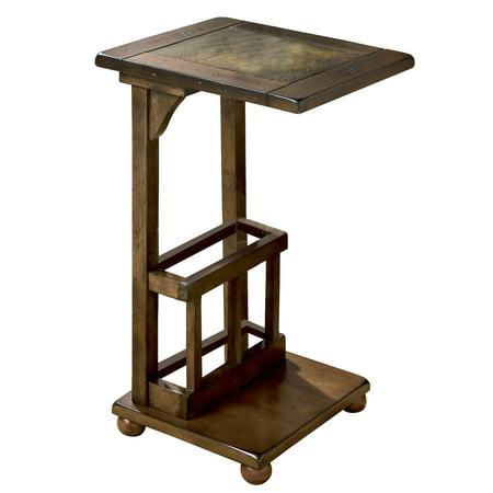 Wilcox Side Table in Antique Walnut Finish from Venetian Worldwide ()