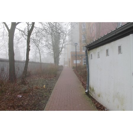 LAMINATED POSTER Buildings Settlement Blocks Houses Away City Poster Print 24 x 36 ()